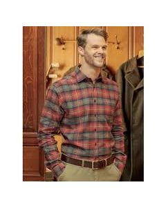 Hoggs Moray Checked shirt, Rust