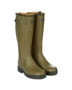 Le Chameau Chasseur Cuir leather lined 44cm calf Wellington boot